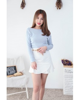 Korea Basic Wide Shoulder Top (Blue)
