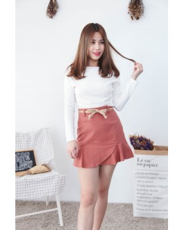 Korea Basic Wide Shoulder Top (White)