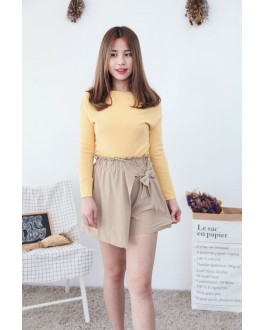 Korea Basic Wide Shoulder Top (Yellow)