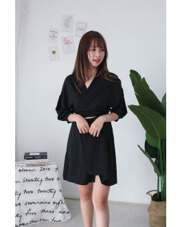 Korea Cross Strap Dress (Black) - BACKORDER ETA 31 OCT