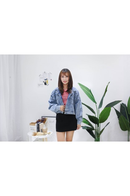 Korea Denim Short Jacket (Blue)
