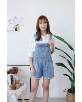 Korea Pocket Strap Short Pant (Blue)