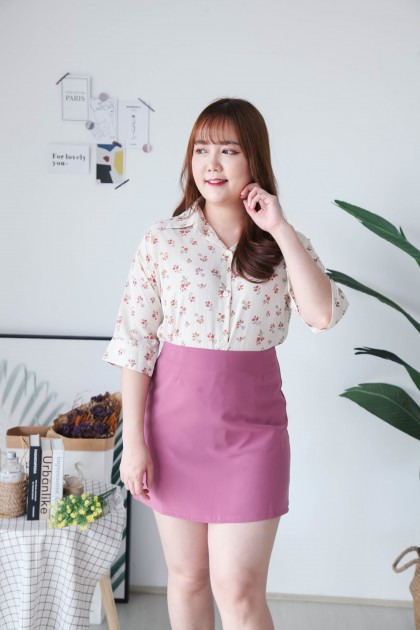 Korea Candy Basic High Waist A Line Skirt (Light Purple)