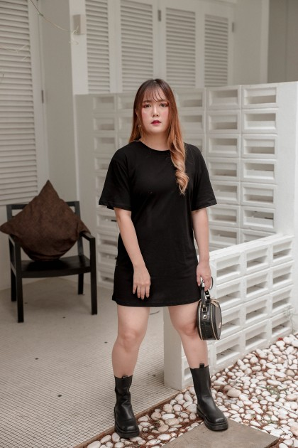 Korea Bear Bear Short Sleeve Long Tee (Black) - BACKORDER ETA 24 MAR