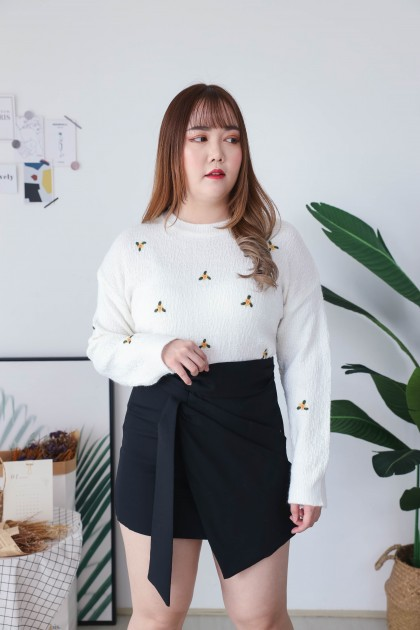 Korea OL Style Irregular High Waist Skirt (Black)